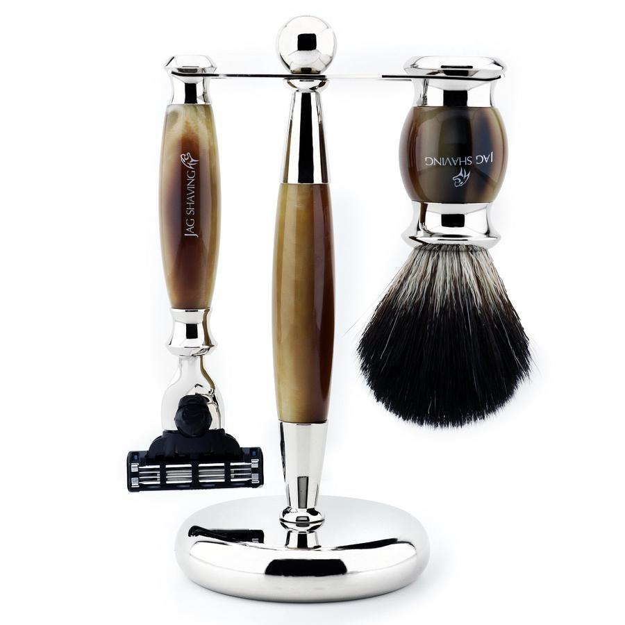 Premium Quality Mach 3 Shaving Razor with Badger Hair Brush