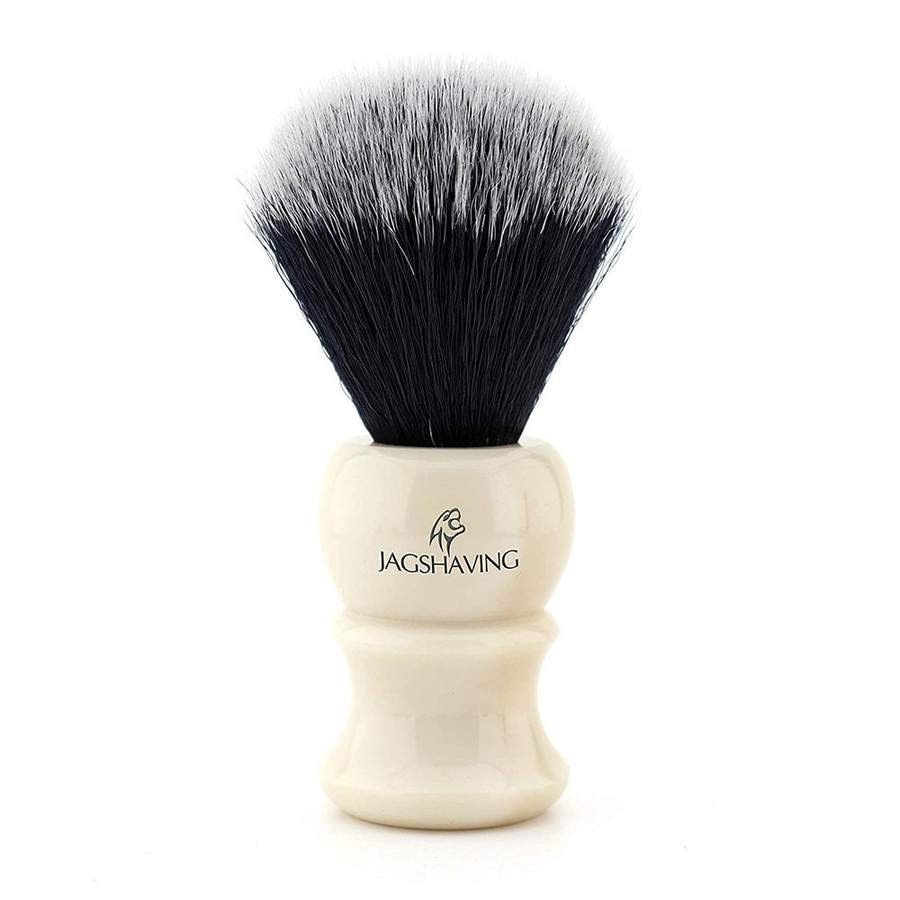 Best Quality Synthetic Hair Shaving Brush with Ivory Replica Handle.