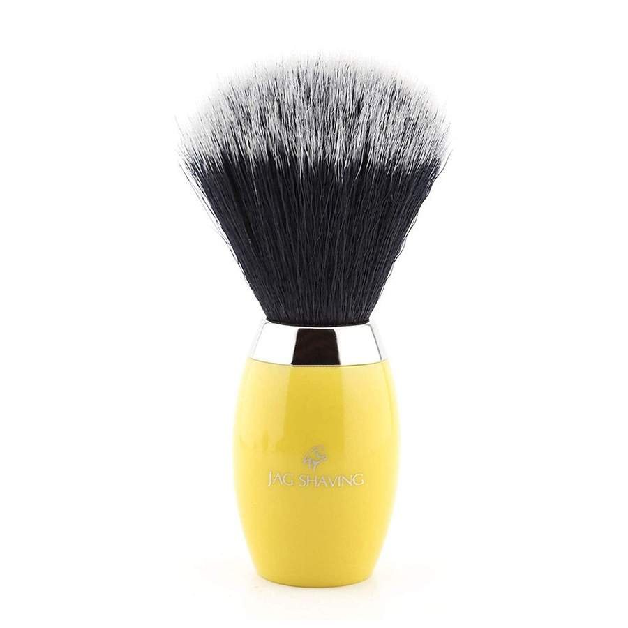 Classic Synthetic Hair Shaving Brush with Yellow Resin Handle