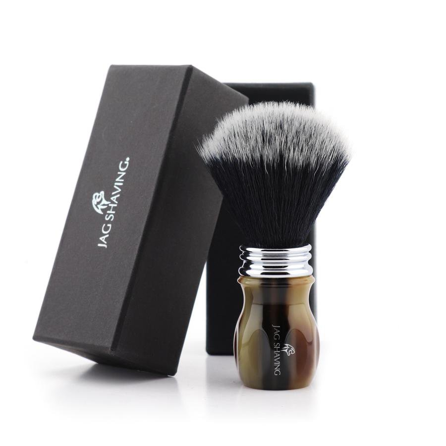Horn Resin Handle & Synthetic Hair Great Gift For Any Shaving Enthusiast