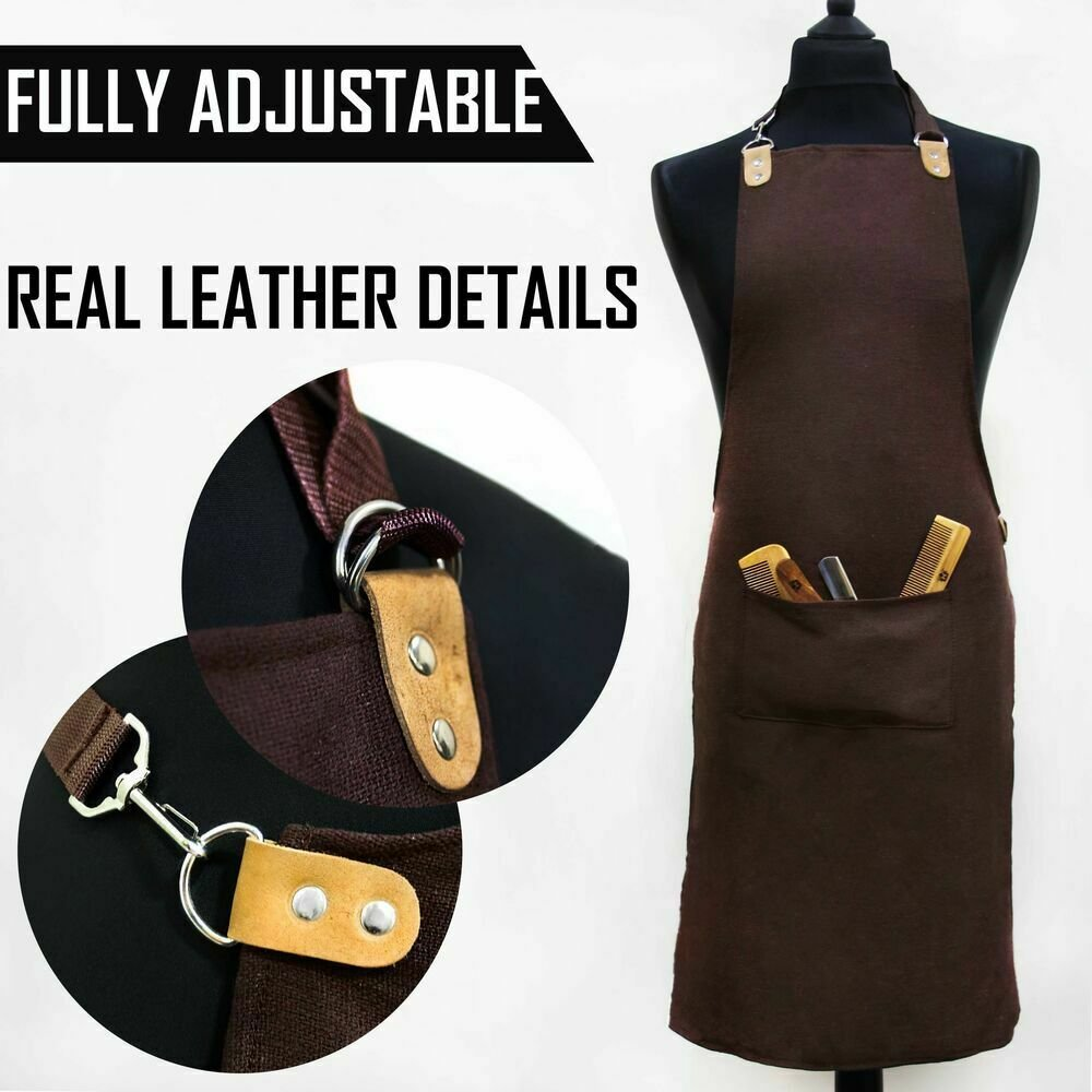 UNISEX Multi Purpose Stylist Kitchen Catering Apron Salon Hair  with Front Pocket