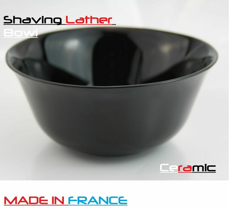 Luxury Ceramic Lathering Bowls Shaving Soap Tool Black Color