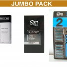 Cien X-Bolt after-shave 100ml + G Bellini EDT 50ml + CIEN Men 2-blade razor inc 20