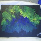 """Original Abstract- Ref 168,  11x14"""" Painting on Stretched Canvas Acrylic Pour by L Baber Ref 168"""