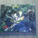 """Original Abstract- Ref 176,  16x20"""" Painting on Stretched Canvas Acrylic Pour by L Baber Ref 176"""