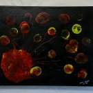 """Original Abstract- Ref 196,  16x20"""" Painting on Stretched Canvas Acrylic Pour by L Baber Ref 196"""