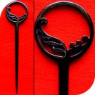 QueCraft Hair Stick / Pin BUFFALO HORN - Hand Carved