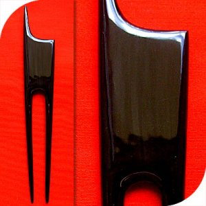 QueCraft Hair Pin / Fork BUFFALO HORN - Hand Carved