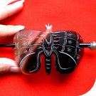 QueCraft BUTTERFLY Hair Pin/Barrette HORN - Hand Carved