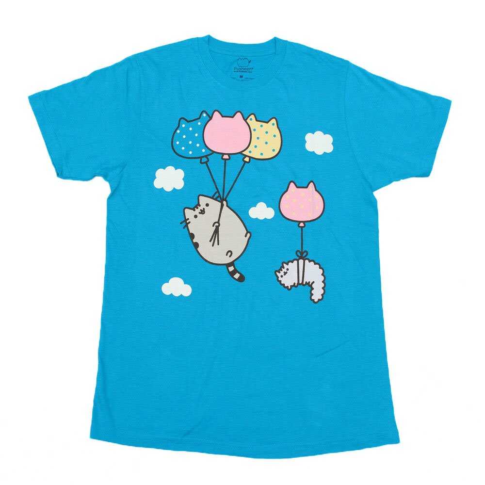 Size 2XL - Pusheen Cat Balloons Unisex style Licensed T-Shirt