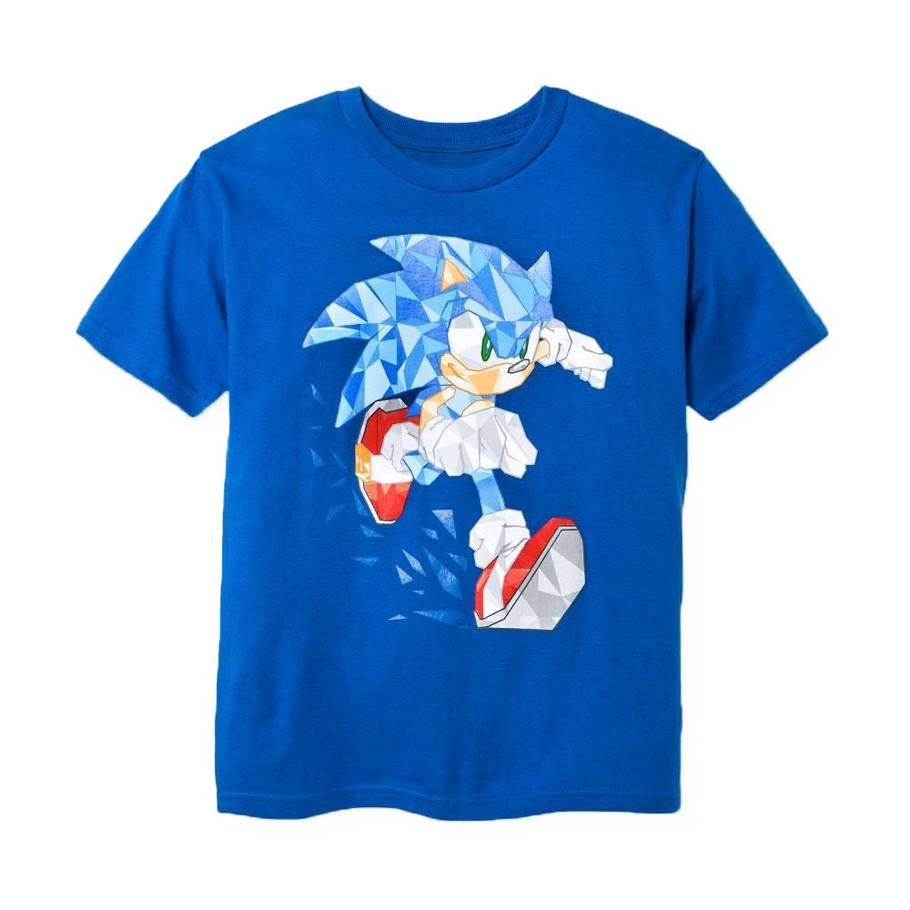 Size XXL (S18) - Boys Youth Sonic The Hedgehog Crystallized Graphic T-Shirt