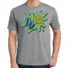 Size M - Nickelodeon Double Dare Logo Gray Heather Mens T-Shirt