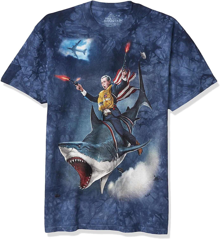 Size M - The Mountain Dubya Shark-S Adult T-Shirt