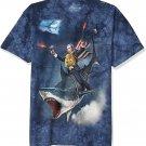 Size L - The Mountain Dubya Shark-S Adult T-Shirt