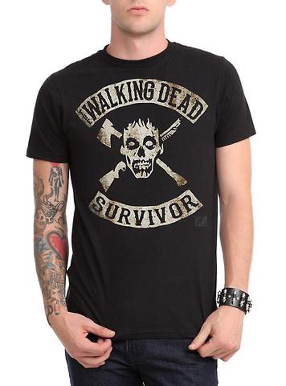Size L -  AMC Show Walking Dead Survivor Mens T-Shirt