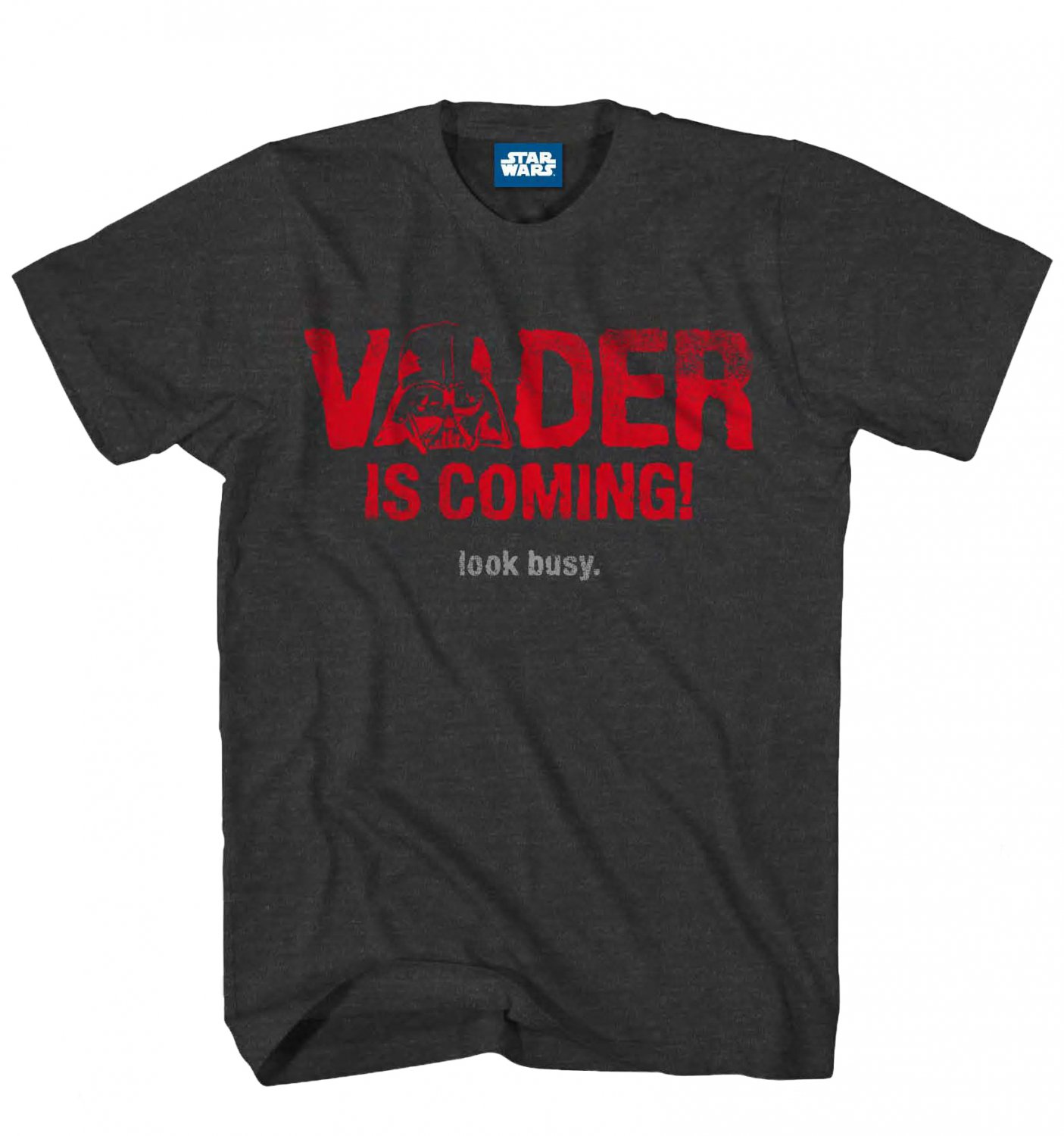 Size XL - Star Wars VADER IS COMING Look Busy Mens T-Shirt