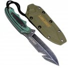 "AJBLADES 9"" Stonewash Blade Tactical Boot Hunting Knife AJ240GN"