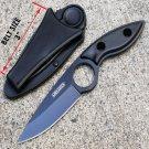 AJBLADES Tactical Black Full Tang Fixed Blade Knife with Sheath - AJ330BK