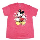 Size L - Disney Mickey Mouse Christmas Lights and Snowflakes Holiday Men's T-Shirt
