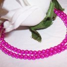 HOT PINK 4mm Round Czech Glass Druk Beads 100