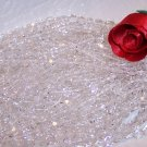 CRYSTAL CLEAR Czech Fire Polished 4mm Beads Q.50