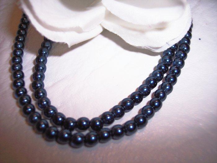 DARK BLUE 4mm Round Czech Glass Druk Beads 100