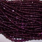 AMETHYST Czech Fire Polished 4mm Beads Q.50
