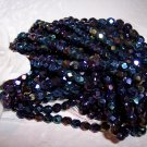 IRIS BLUE Czech Fire Polished 6mm Beads q.50