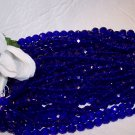 COBALT Czech Fire Polished Crystal 6mm Beads q.50