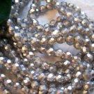 SILVER MATTE Czech Fire Polished Crystal 8mm Beads q.50
