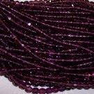 AMETHYST Czech Fire Polished Crystal 8mm Beads q.50