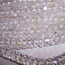CRYSTAL AB Czech Fire Polish Faceted Rondells 6/3mm q.25