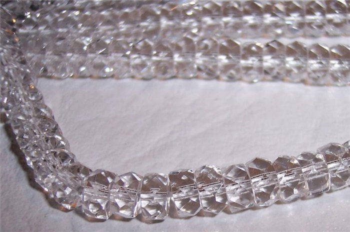 CRYSTAL Czech Fire Polish Faceted Rondells 6/3mm q.25