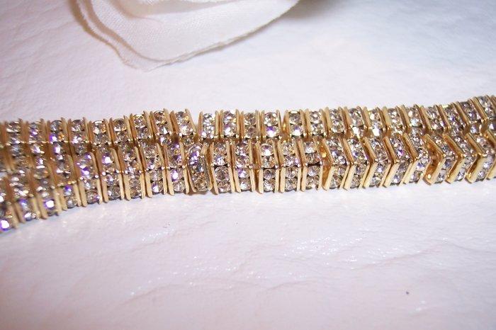 GOLD/CRYSTAL Rhinestone Squaredelles 4.5mm q.10