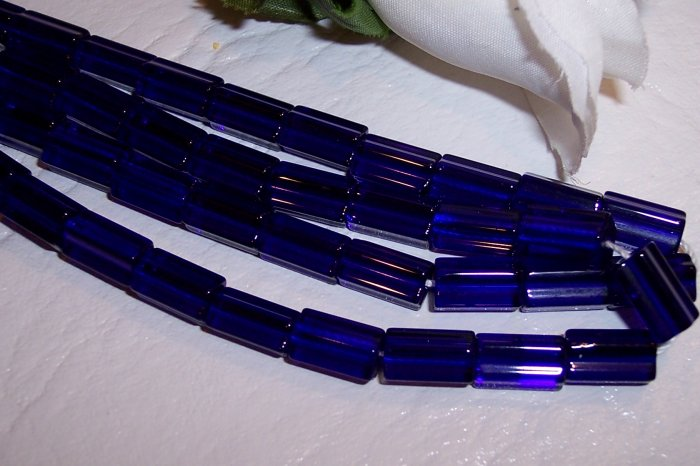 ATLAS 5-sided glass bead COBALT BLUE