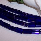 ATLAS 5-sided glass bead COBALT BLUE
