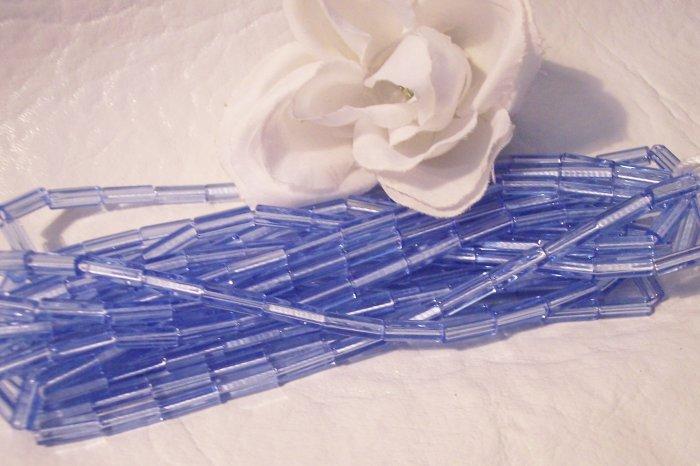 ATLAS 10/4 glass bead MED. SAPPHIRE BLUE q.25