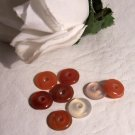 CARNELIAN Donut Beads 10mm (pack of 4)