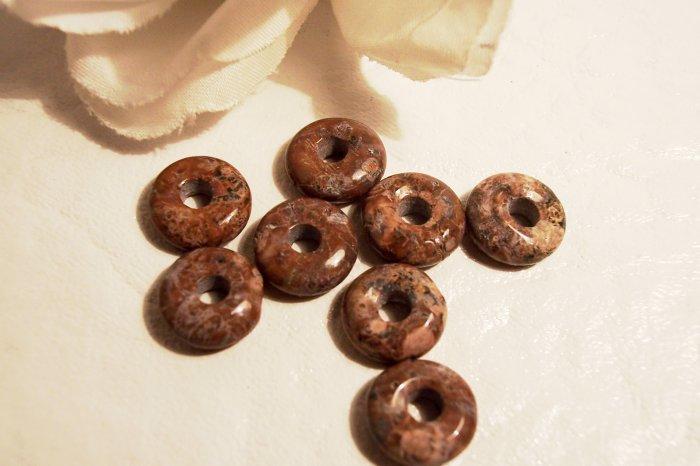 LEOPARDSKIN JASPER 10mm Donut Bead 4 pack