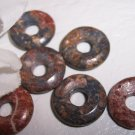 LEOPARDSKIN JASPER 15mm Donut Bead 6 pack