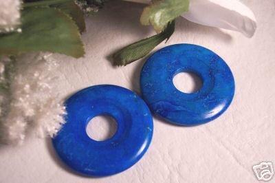 TURQUOISE HOWLITE Donut Bead 40mm