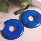 TURQUOISE HOWLITE Donut Bead 40mm