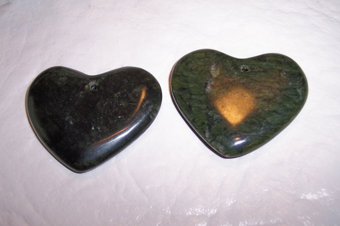 JADE Heart Pendant Focal Bead