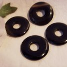 BLACK AGATE  Donut Bead 25mm