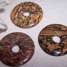 LEOPARDSKIN JASPER 25mm Donut Bead