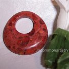 APPLE CORAL GoGo Pendant Donut Bead 40mm