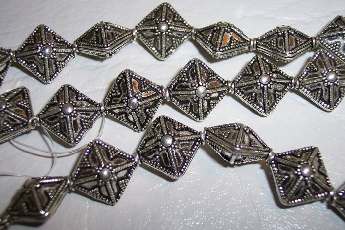 Sterling GENUINE BALI Bead Diamond Shape