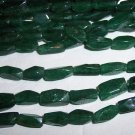 AVENTURINE (green) Twist Rectangle Beads 4x10