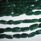 AVENTURINE (green) Twist Rectangle Beads 4x10