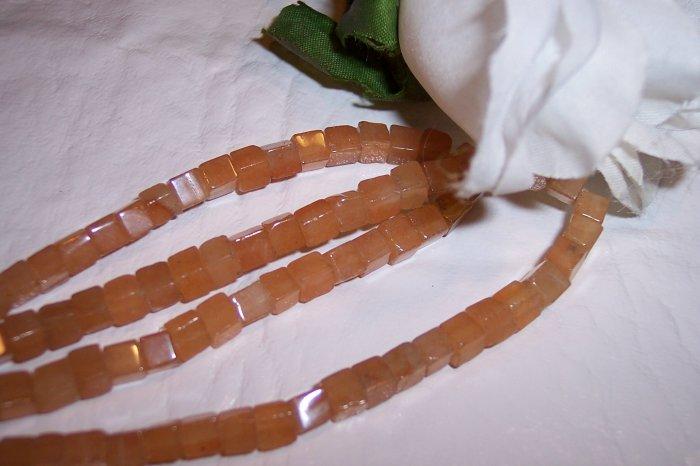 AVENTURINE (peach)  4x4 Cube Beads